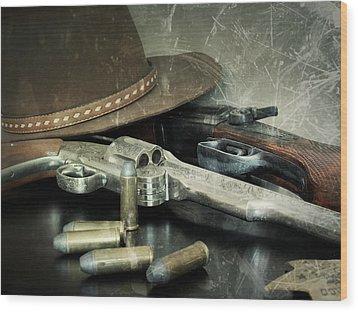 Frontier Lawman Guns Wood Print