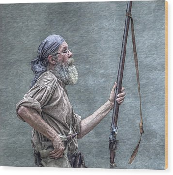 Frontiersman Face Of Time Wood Print by Randy Steele