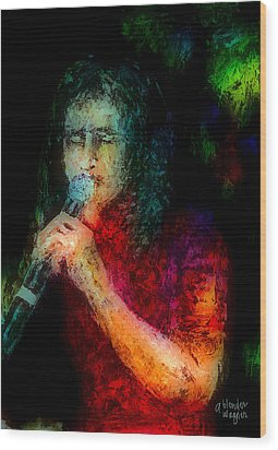 Frontman Wood Print by Arline Wagner