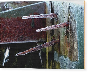 Frost And Rust Wood Print