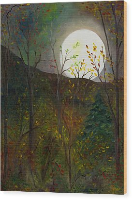 Frost Moon Wood Print by FT McKinstry