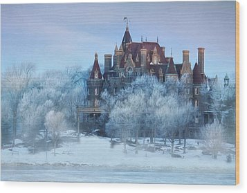 Frosted Castle Wood Print by Lori Deiter