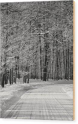 Frosted Steps Wood Print by Sarah Boyd
