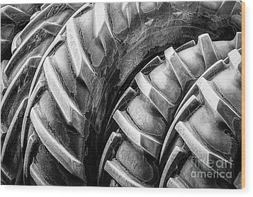 Wood Print featuring the photograph Frosted Tires by Brad Allen Fine Art