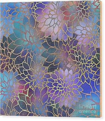 Wood Print featuring the digital art Frostwork Fantasy by Klara Acel