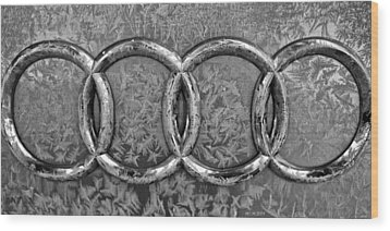 Frosty Audi Wood Print by Catherine Melvin
