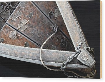 Frosty Boat Wood Print by Robert Lacy