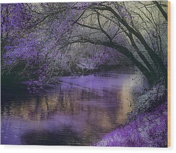 Frosty Lilac Wilderness Wood Print by Michele Carter