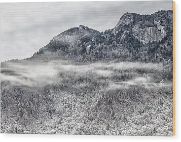 Snowy Grandfather Mountain - Blue Ridge Parkway Wood Print
