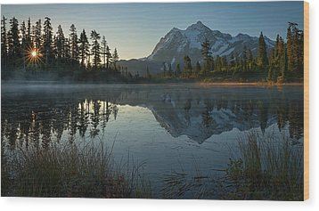 Wood Print featuring the photograph Frosty Picture Lake by Dan Mihai