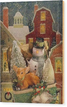 Frosty The Snowman Wood Print by Mo T