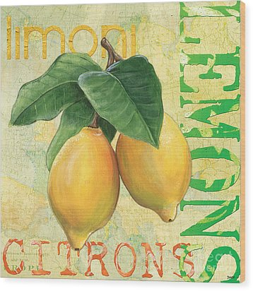 Froyo Lemon Wood Print by Debbie DeWitt