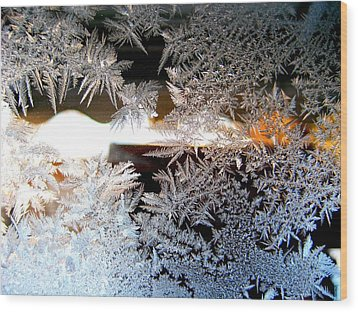 Frozen Design Wood Print by Shirley Sirois