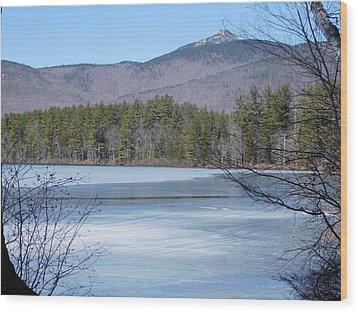 Frozen Lake Chocorua Wood Print by Catherine Gagne
