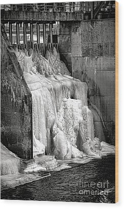 Wood Print featuring the photograph Frozen Power by Olivier Le Queinec