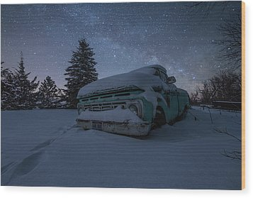 Wood Print featuring the photograph Frozen Rust  by Aaron J Groen