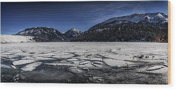 Wood Print featuring the photograph Frozen Wallowa Lake by Cat Connor