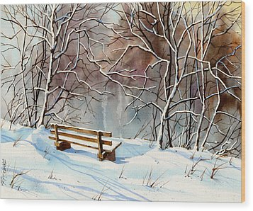Frozen  View Wood Print by Art Scholz