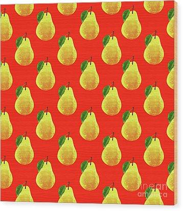 Fruit 03_pear_pattern Wood Print