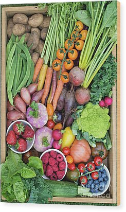 Fruit And Veg Wood Print by Tim Gainey