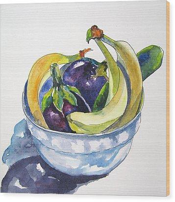 Fruit And Veggies Wood Print