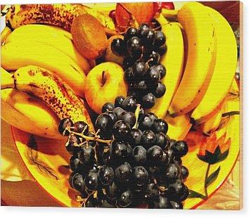 Fruit Basket Wood Print by Carlos Avila