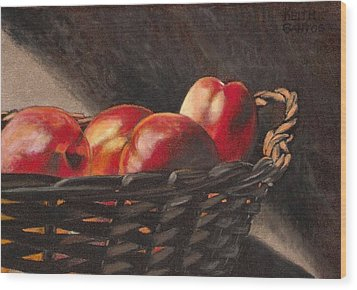 Fruit Basket Wood Print