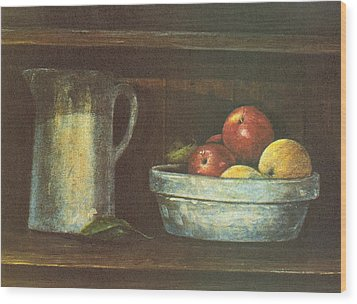 Fruit Bowl Wood Print by Charles Roy Smith