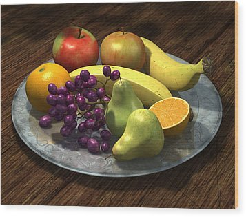 Fruit Bowl Wood Print by Martin Davey