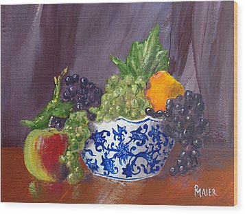 Fruit Bowl Wood Print by Pete Maier