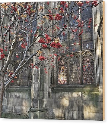 Fruit By The Church Wood Print by RKAB Works