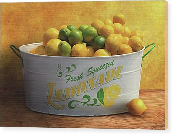 Wood Print featuring the photograph Fruit - Lemons - When Life Gives You Lemons by Mike Savad