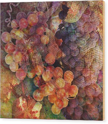 Fruit Of The Vine Wood Print by Barbara Berney