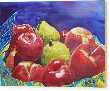 Fruitfully Yours Wood Print by Gerald Carpenter