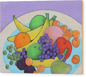 Fruitilicious Wood Print by Lorraine Klotz