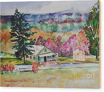 Wood Print featuring the painting Fruitlands IIi by Priti Lathia