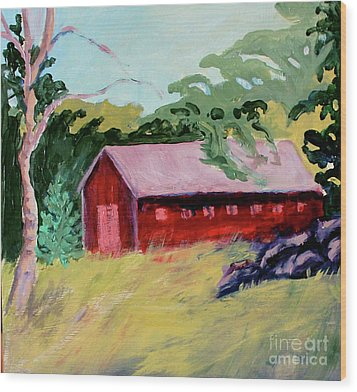 Wood Print featuring the painting Fruitlands Iv by Priti Lathia