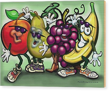 Fruits Wood Print by Kevin Middleton