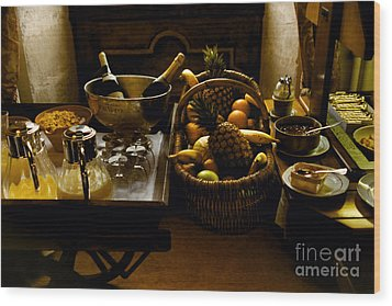 Fruits Of France Wood Print by Madeline Ellis