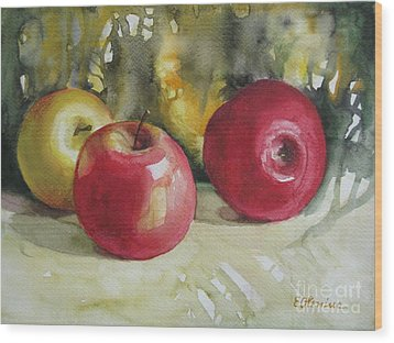 Wood Print featuring the painting Fruits Of The Earth by Elena Oleniuc