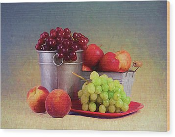 Fruits On Centerstage Wood Print
