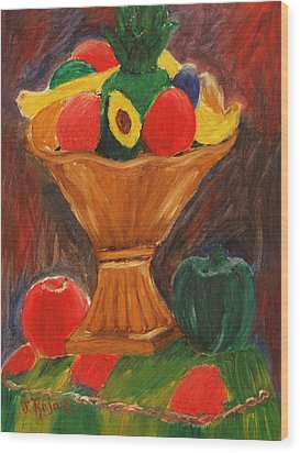 Fruits Still Life Wood Print
