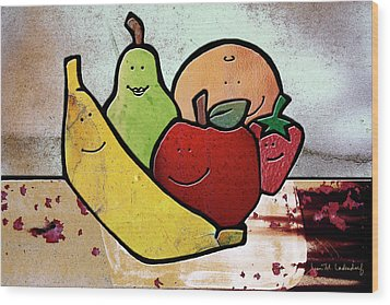 Fruity Wood Print by Joan Ladendorf