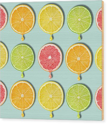 Fruity Wood Print by Mark Ashkenazi