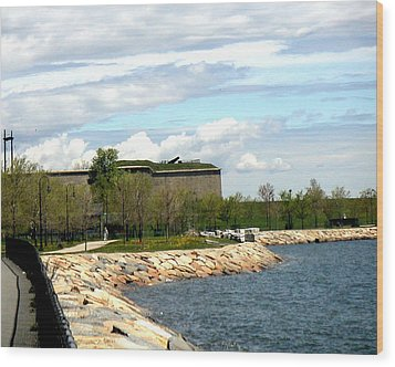 Ft Independence Castle Island South Boston Ma Wood Print