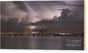 Ft Myers Nights Wood Print