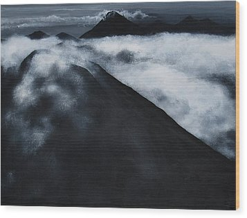 Fuego Volcano Wood Print by Patricia Ann Dees