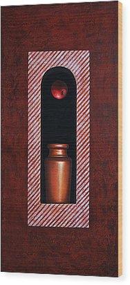 Fugitive Apple Essence Wood Print by Horacio Cardozo
