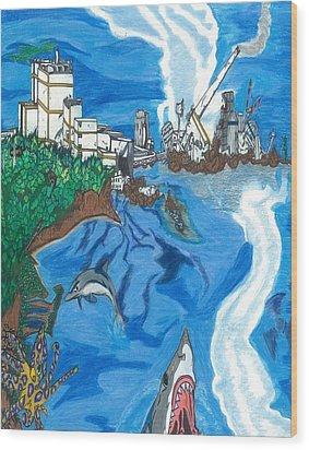 Fukushima Daiichi In Ruin Wood Print by Justin Chase