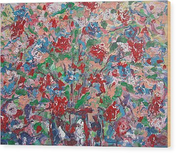 Full Bloom. Wood Print